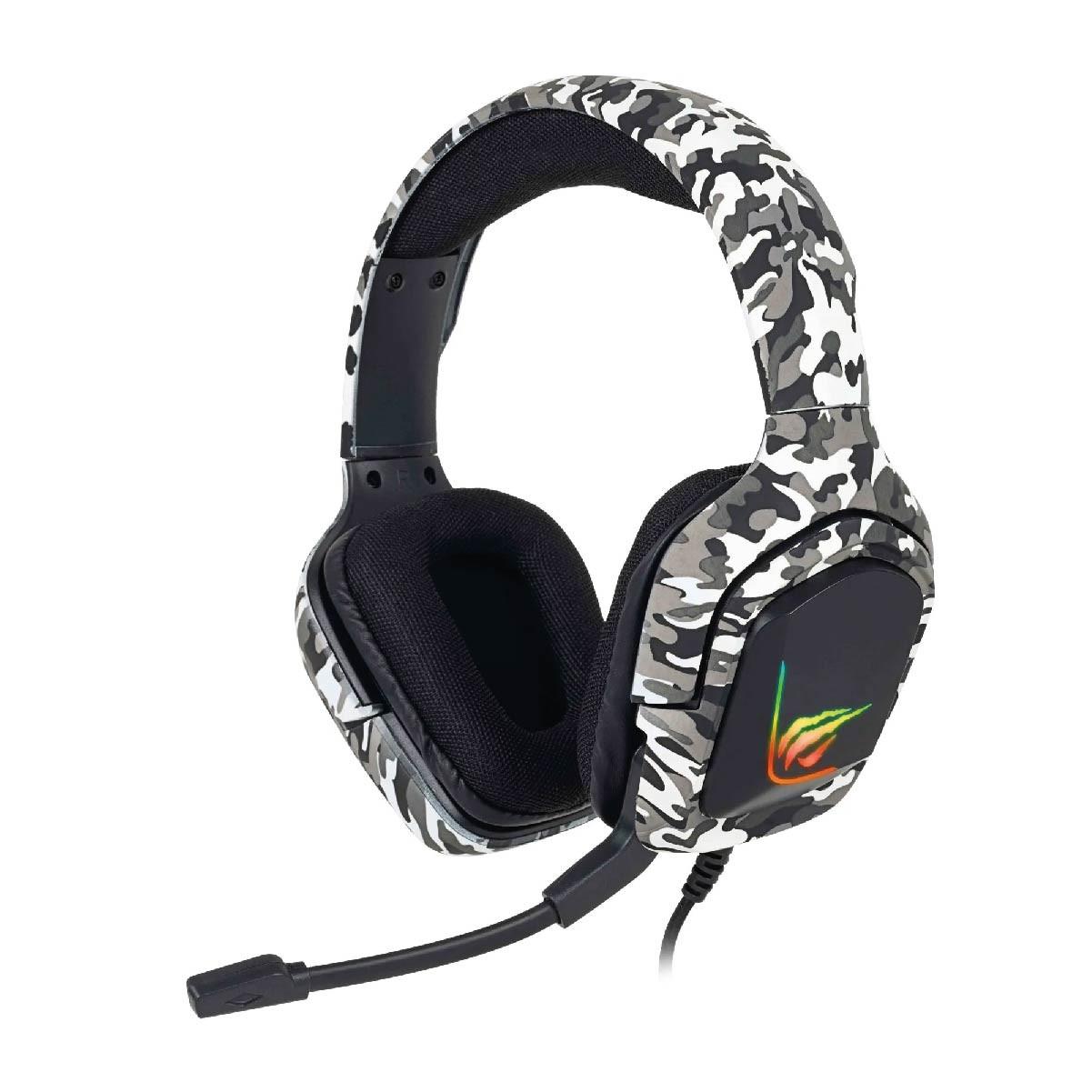 Fone de Ouvido Headset Gamer Havit H653d Cinza
