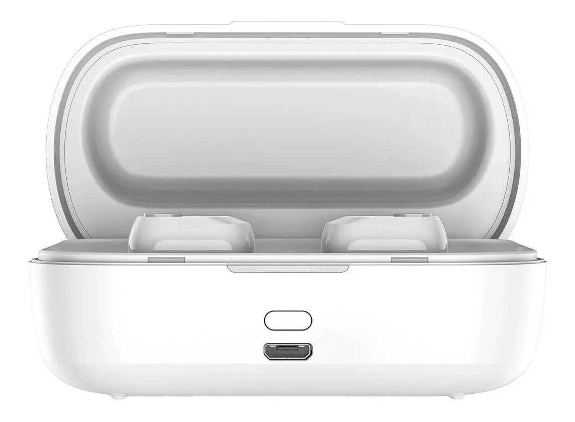 Fone de Ouvido Sem Fio Bluetooth 5.0 Resistente Baseus W01 Branco