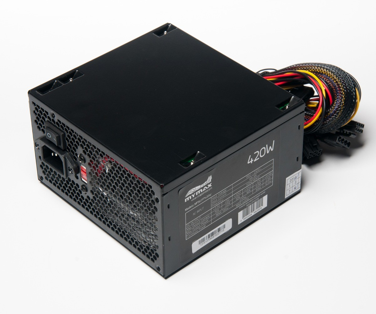 Fonte 420W ATX 24 Pinos High Power Com Led Azul PCI-E 16x/8x Bivolt