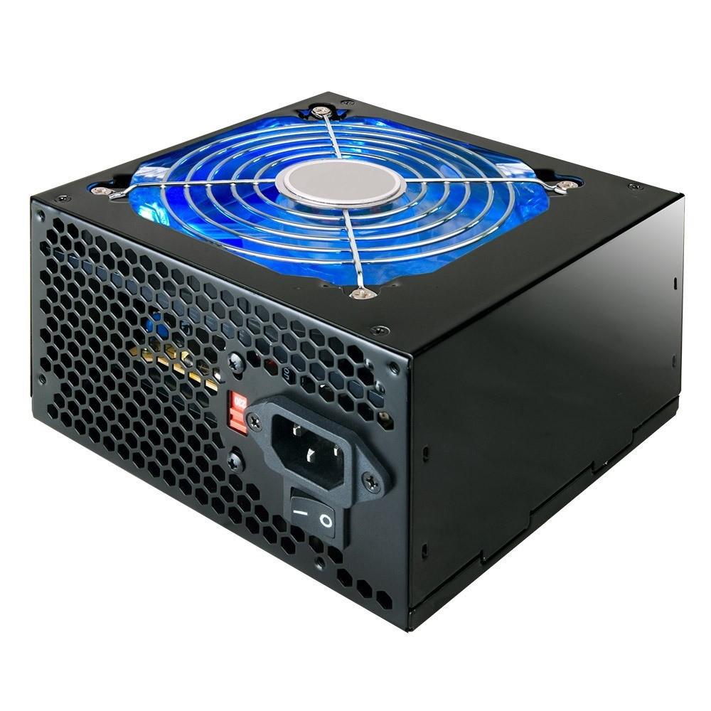 Fonte 500W ATX 24 Pinos High Power Com Led Azul PCI-E 16x/8x Bivolt