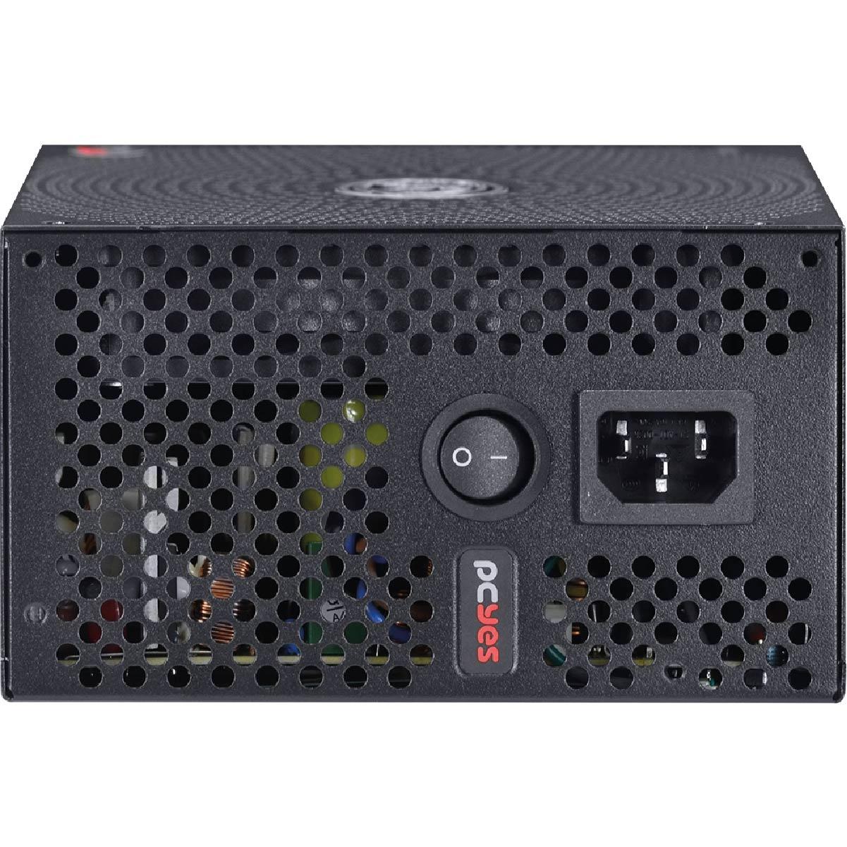 Fonte ATX 600W Pcyes Electro V2 80 Plus White PFC Ativo