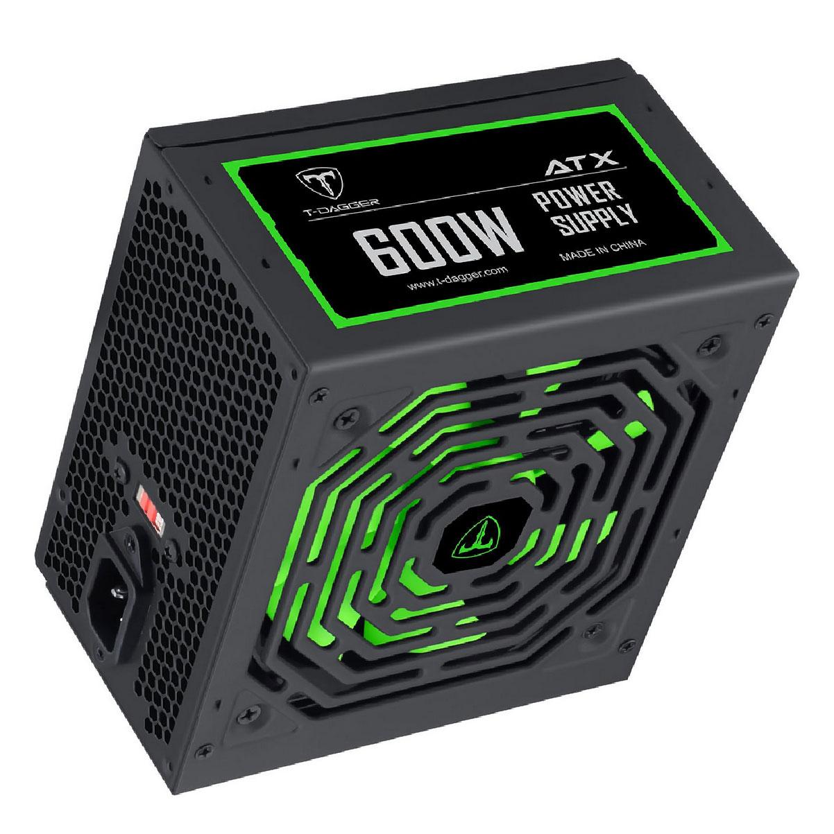 Fonte ATX 600w T-Dagger Gamer Alto Desempenho