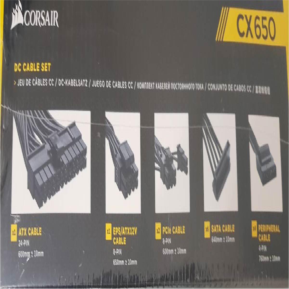 Fonte Atx Corsair CX650 80 Plus Bronze 650w Pfc Ativo