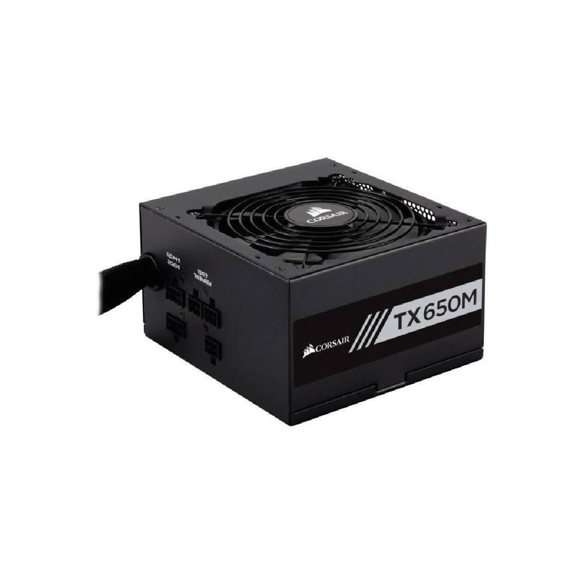 Fonte Corsair TX650M 650W ATX 80 Plus Ouro Semi Modular