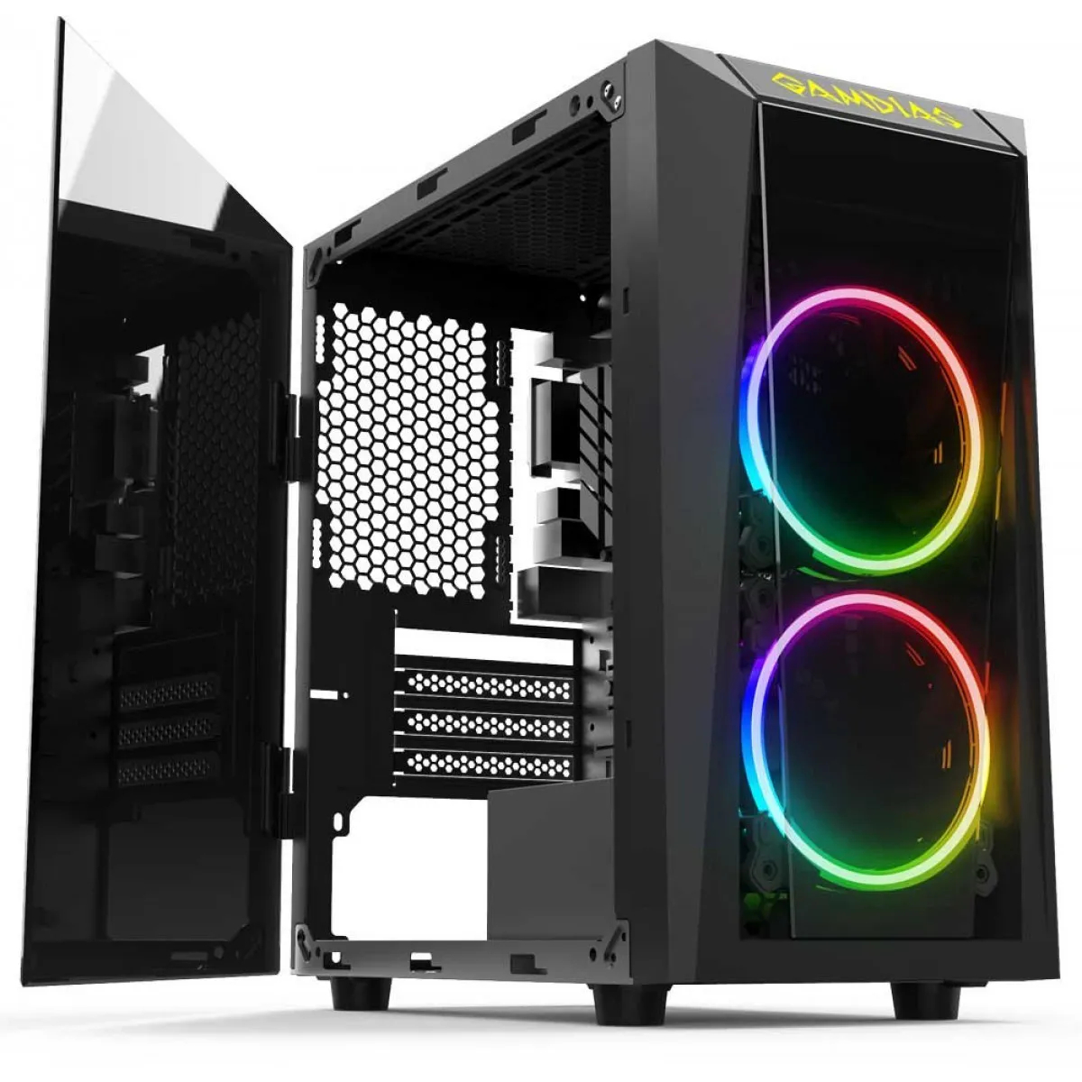 Gabinete Gamdias Talos E1 Mini Tower PC Case Sem Fan