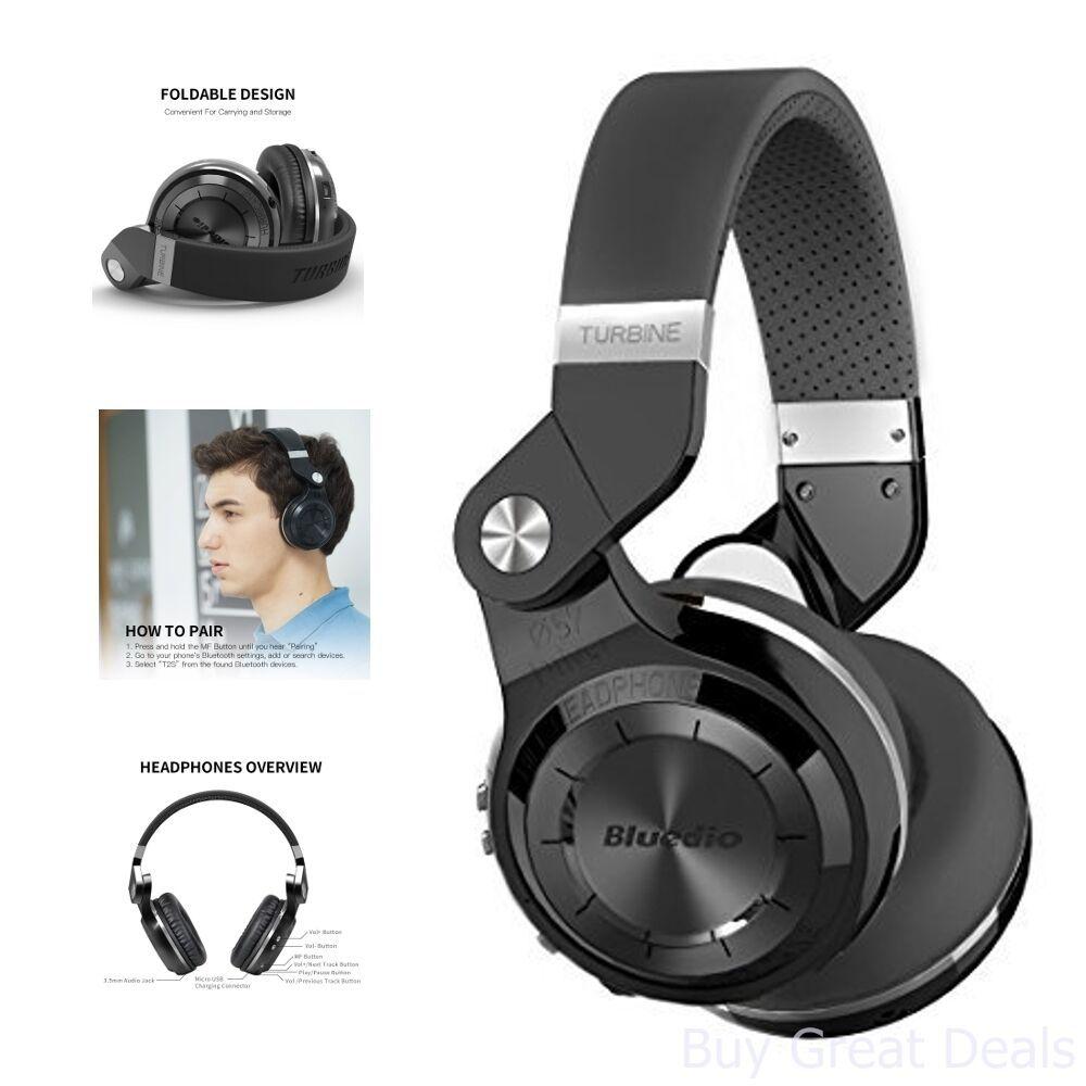Headphone Bluedio T2+ Turbine Bluetooth Cartão SD FM 40 horas de Bateria