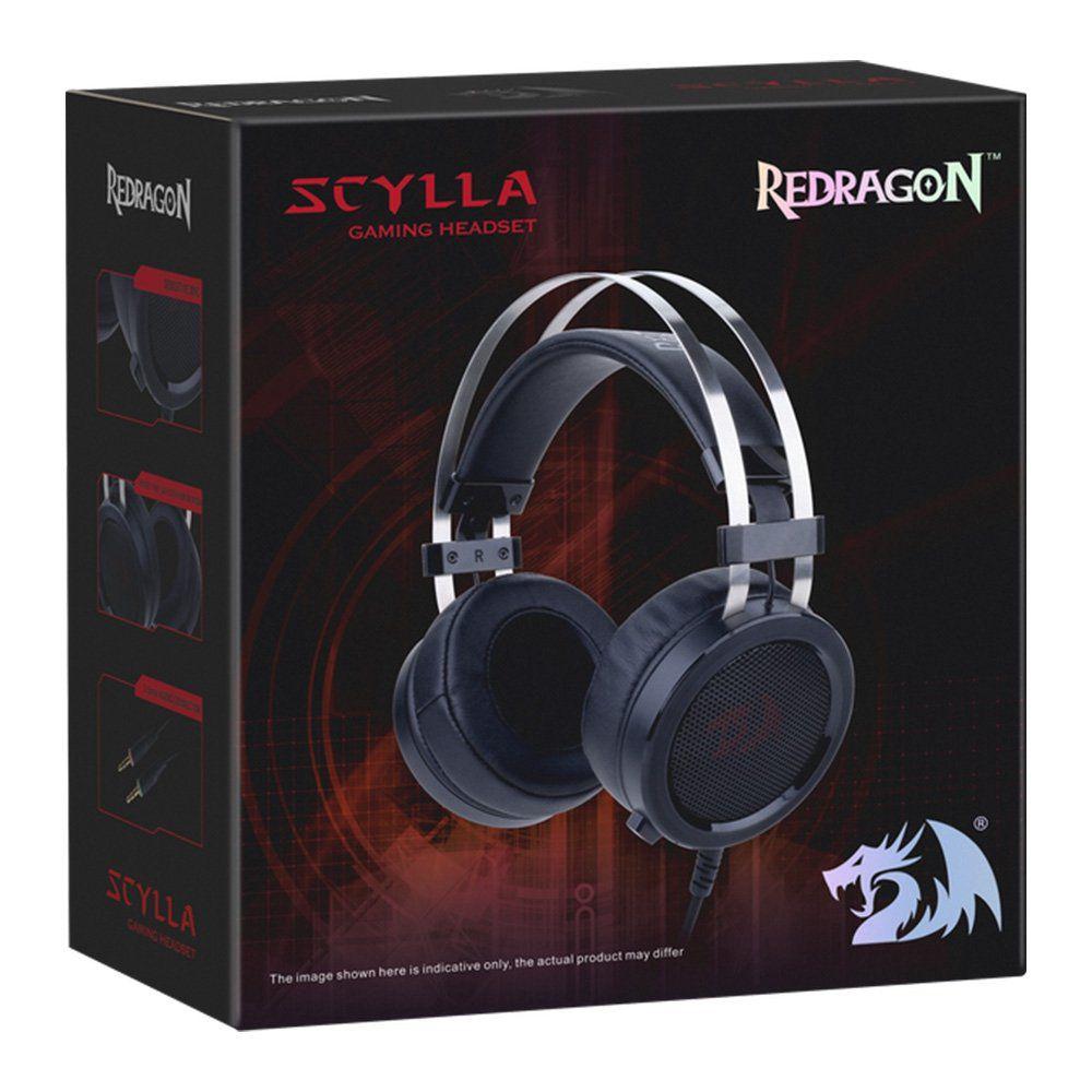 Headphone Gamer Profissional Redragon Scylla H901 Over-Ear