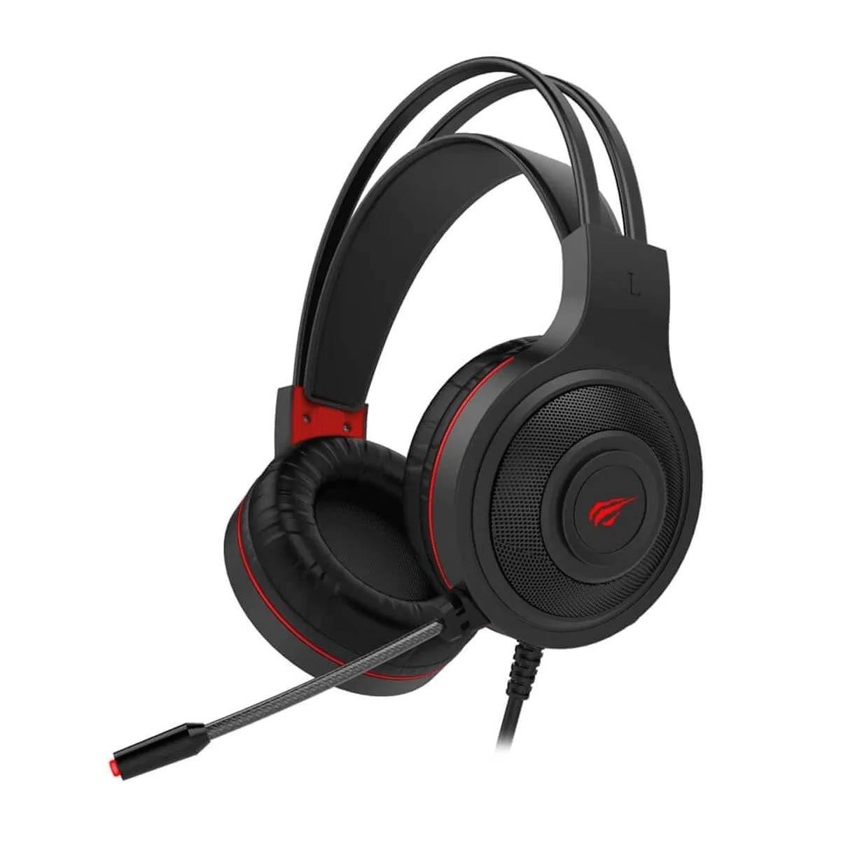 Headset Fone de Ouvido Havit H2011D Gamer Led Vermelho