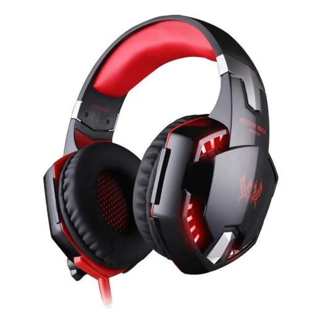 Headset Fone De Ouvido Profissional Gamer Kotion Each G2000 Vermelho