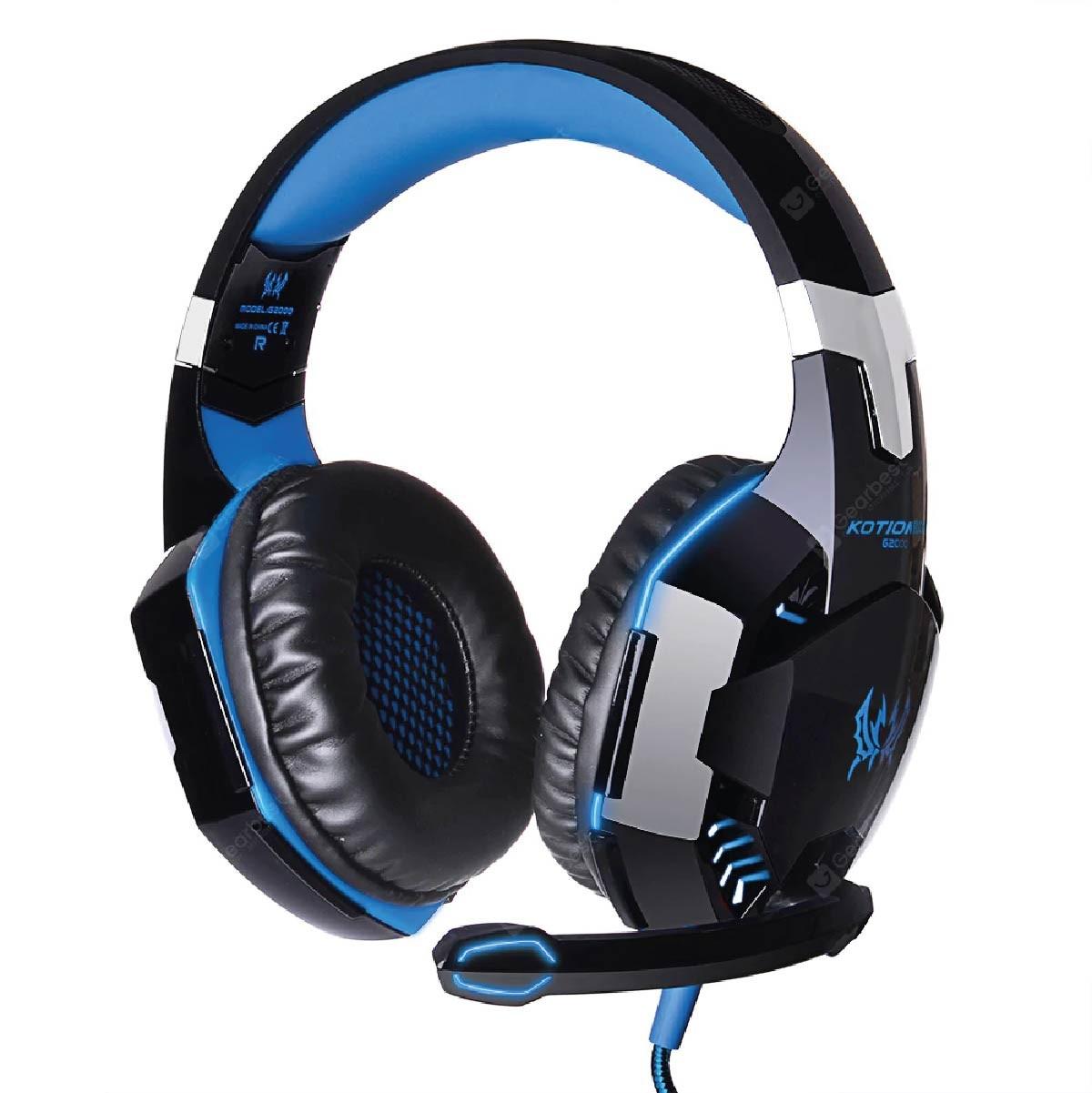 Headset Fone De Ouvido Profissional Gamer Kotion Each G2000 Azul