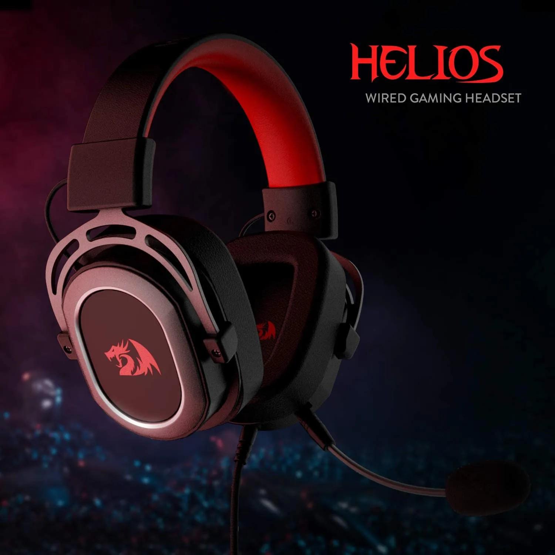 Fone de ouvido Gamer Headset Redragon Helios 7.1 Usb Preto H710