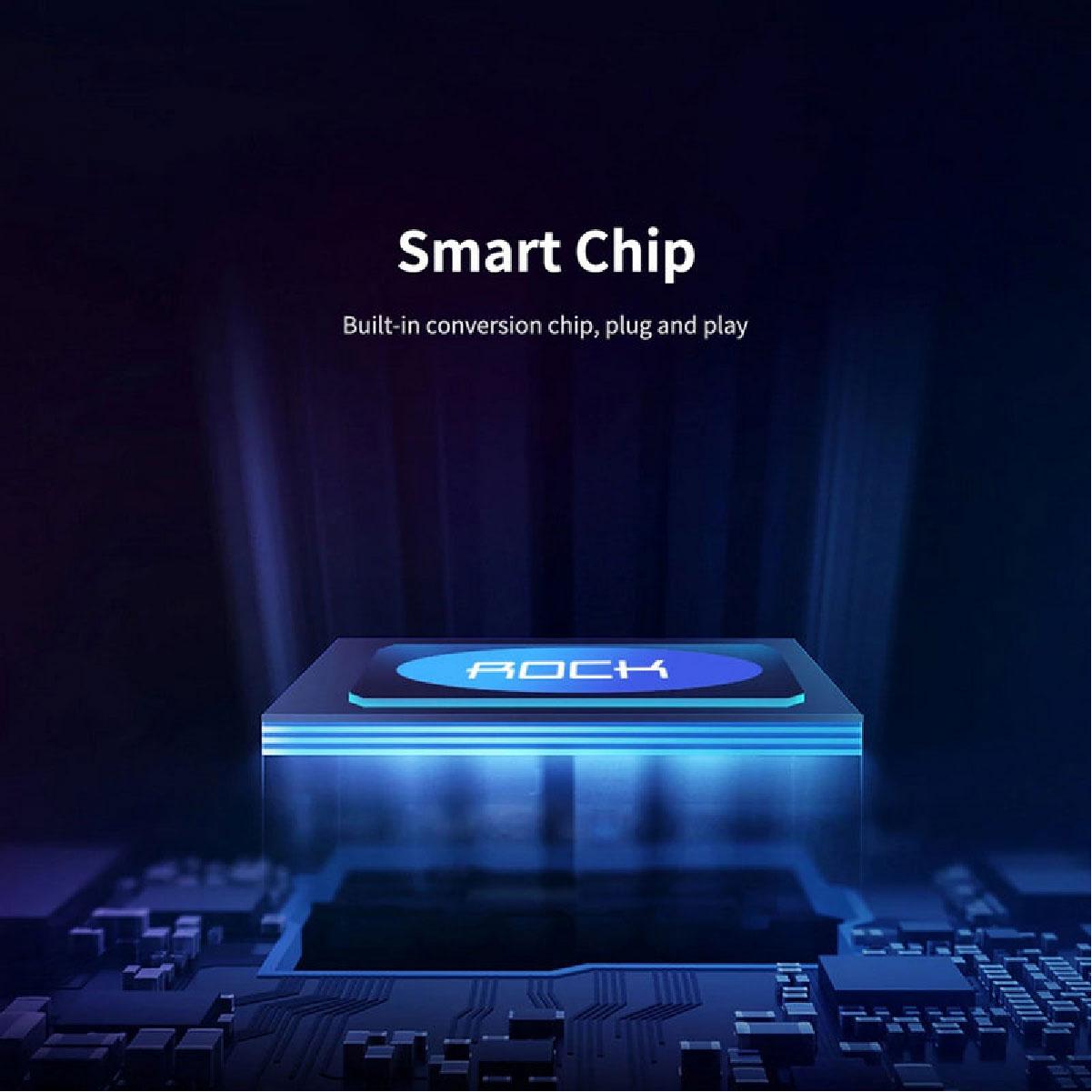 Hub Adaptador Tipo-C para HDMI + PD 87W Alta Resolução 30Hz 4K Rock Cinza
