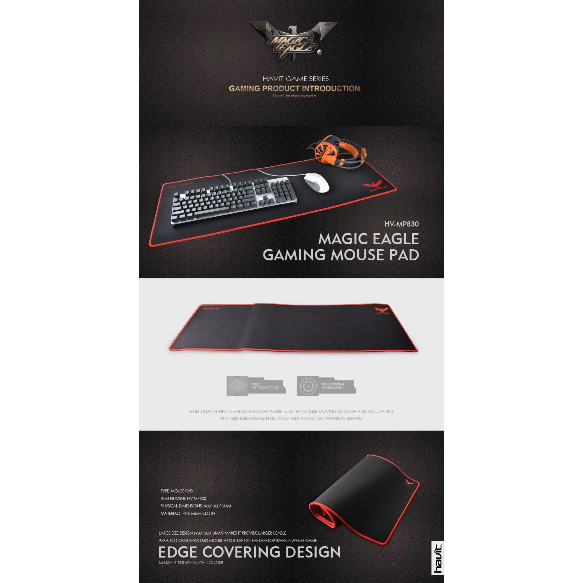 Kit 2 Mousepad Gamer Havit 90x30 Control + 70x30cm Speed