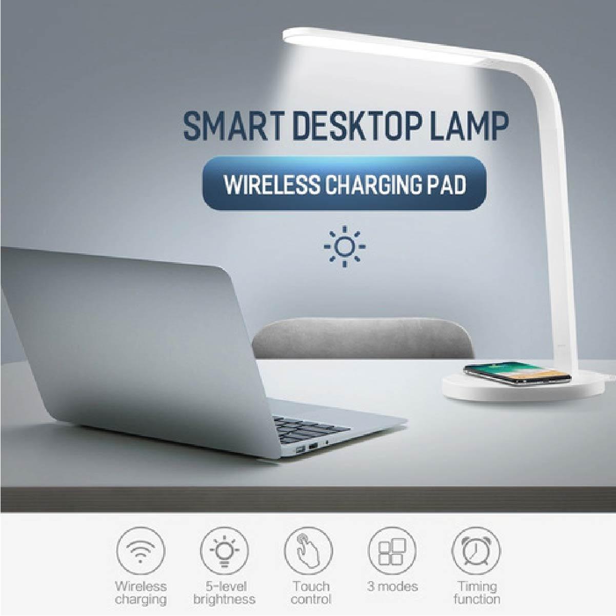 Luminária Inteligente Com Base Carregador Sem Fio Rock
