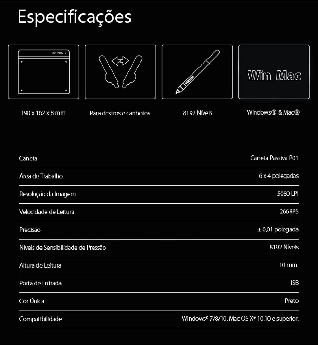Mesa digitalizadora XP-Pen Star G640 black