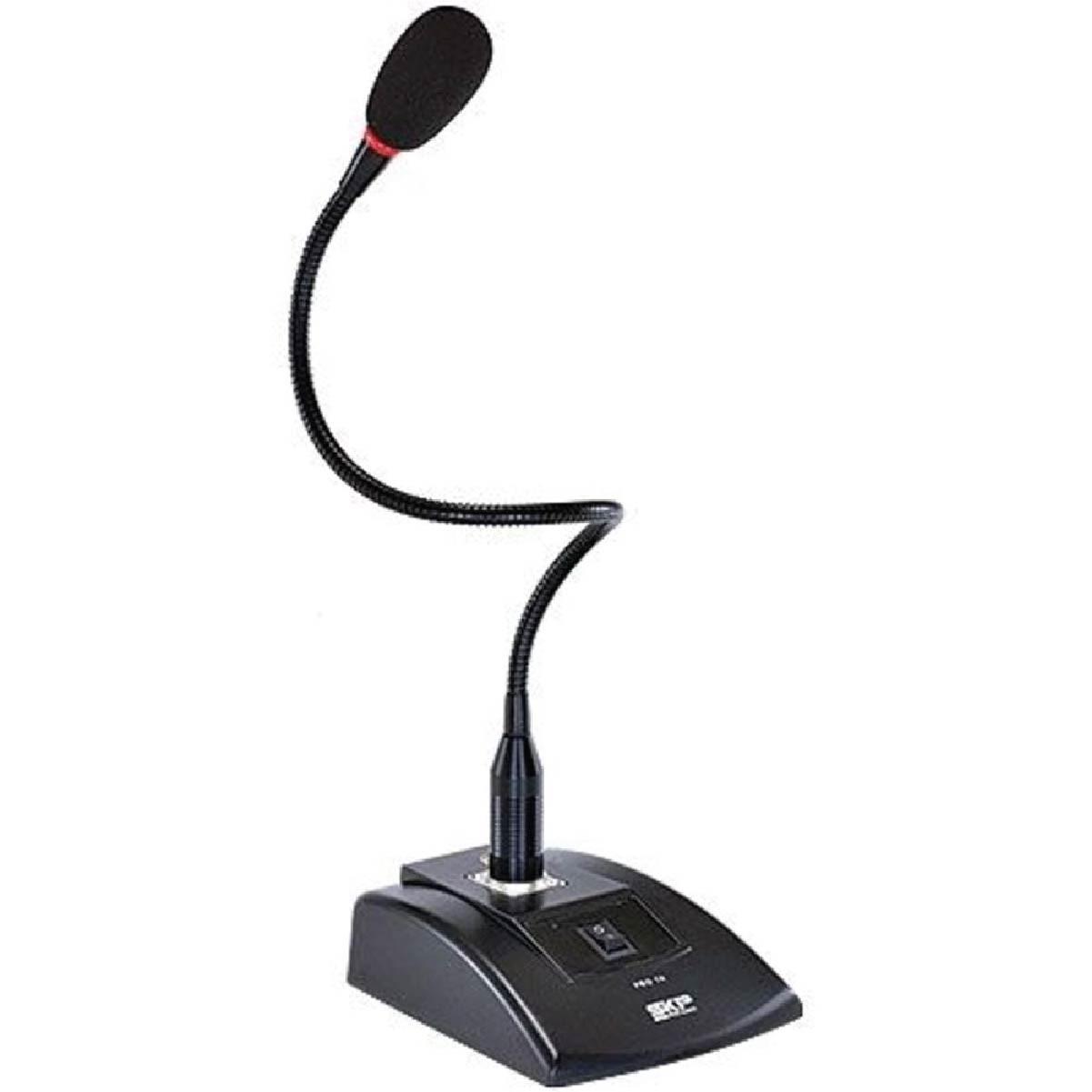 Microfone De Mesa SKP Eletreto Condensador Com Phantom Pro7k e Led