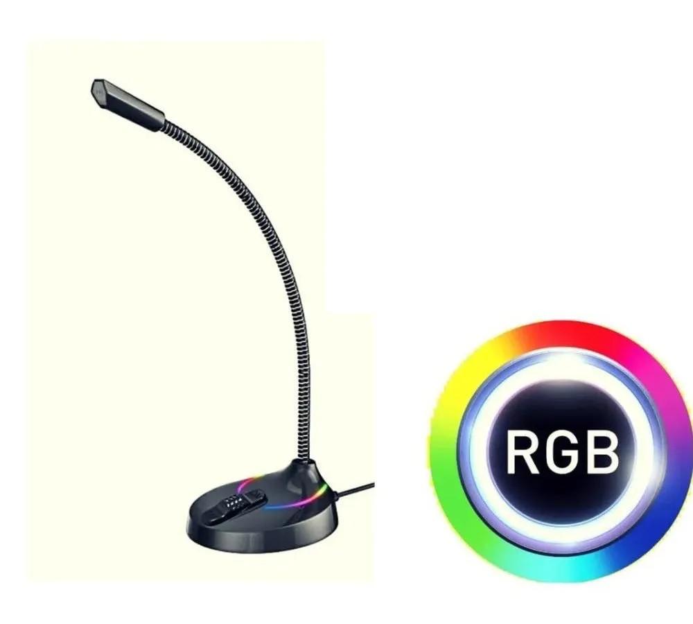 Microfone Havit Gamer de Mesa Hv-gk55 Pc Rgb Plug & Play Usb