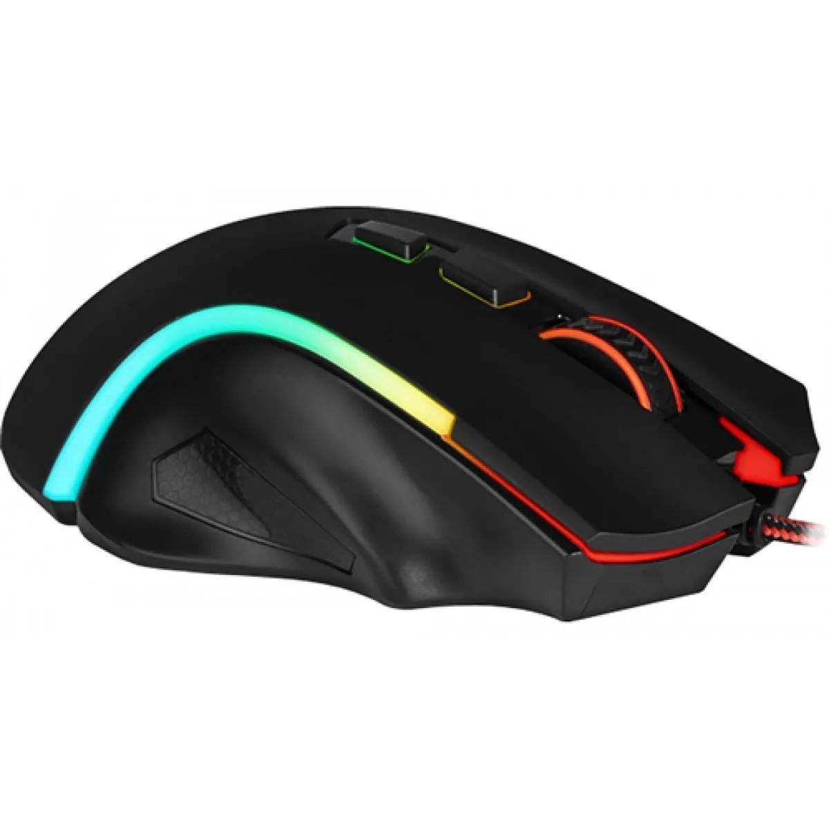 Mouse Gamer 7200dpi Rgb Redragon Griffin Rgb M607w Preto