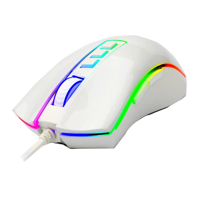 Mouse Gamer Cobra Redragon M711w Chroma Lunar White PIXART PMW3325