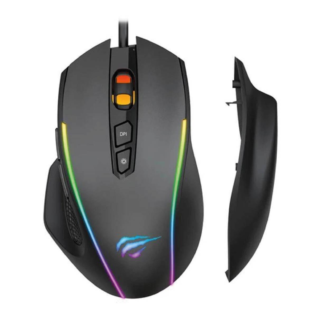 Mouse Gamer Havit Ms1011 LED RGB USB 7200DPI