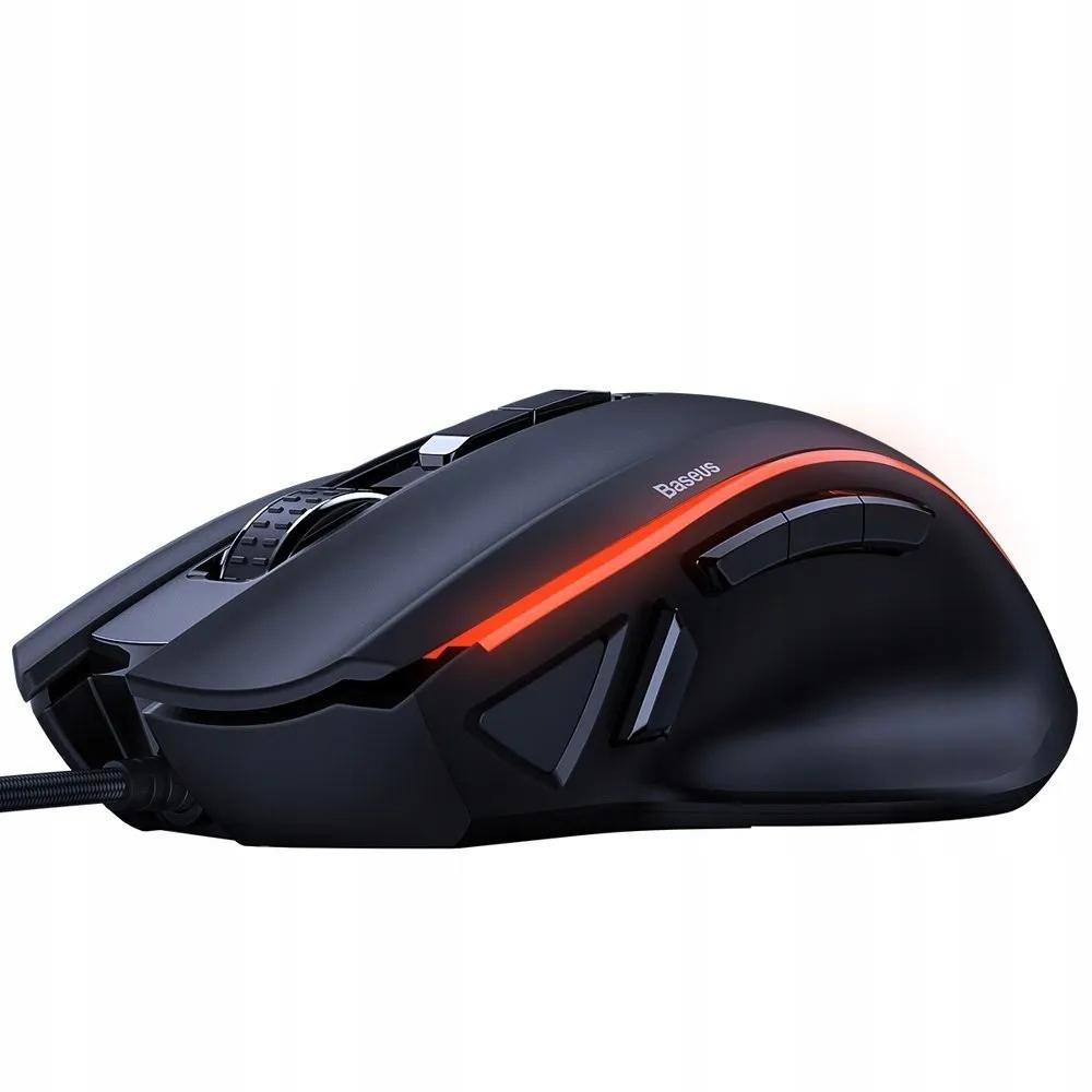 Mouse Gamer Para Jogo Ip/android/pc Baseus 9 Botões 6400Dpi
