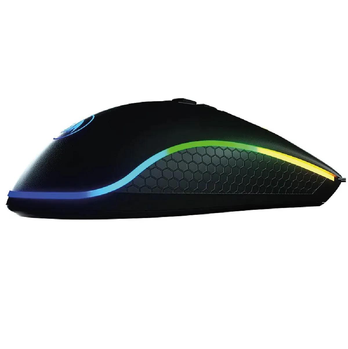Mouse King Cobra Redragon Gamer M711-fps PIXART PMW3360 RGB