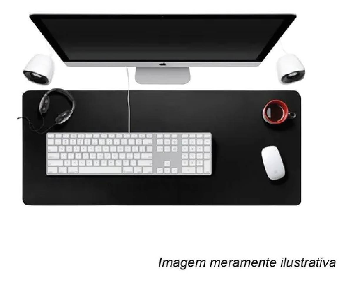 Mousepad Gamer Extra Grande Mouse Teclado 70x35 Cm Speed Reforçado Preto
