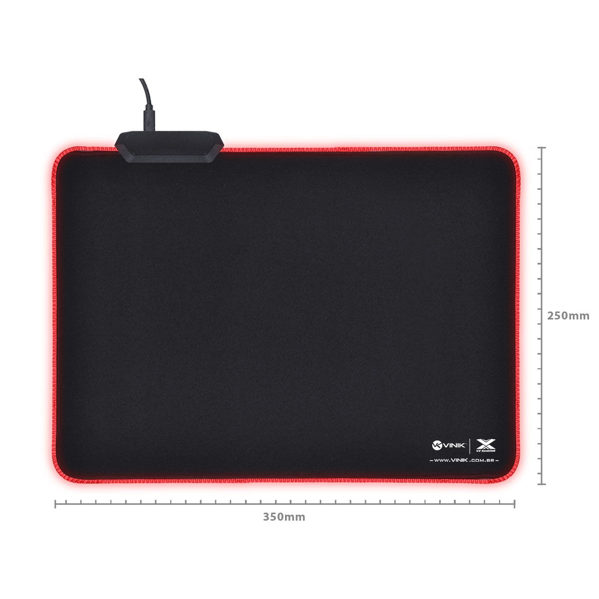 Mousepad RGB Grande 25X35cm Speed jogo FPS Profissional