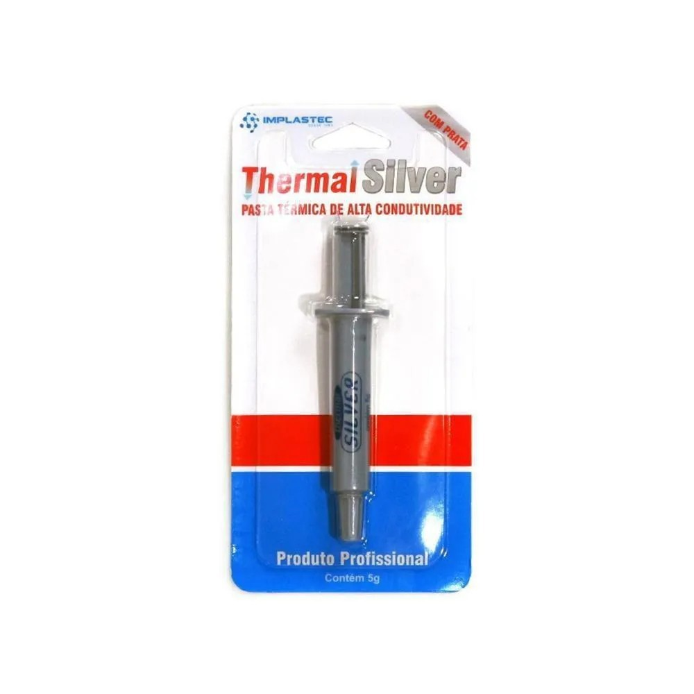 Pasta Térmica Thermal Silver 1,6 W/mk Prata 5g Blister Ptts5gb Implastec Legitima