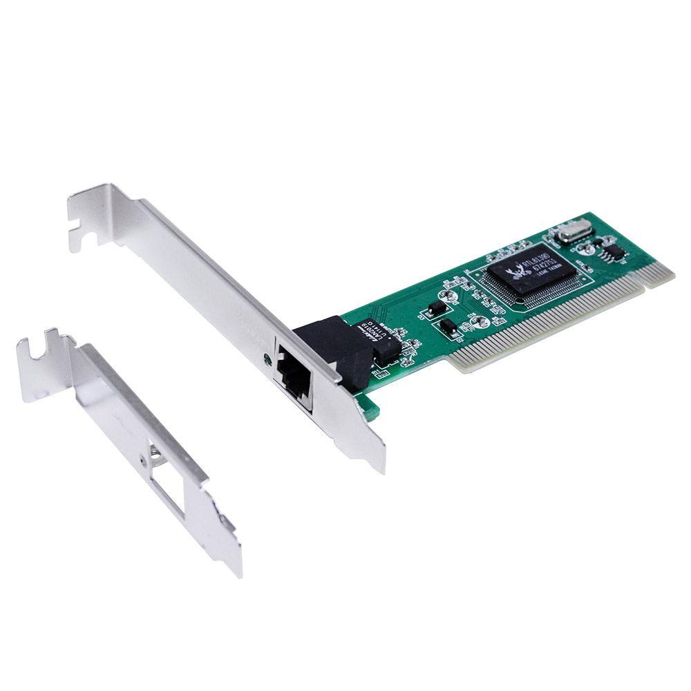 Placa De Rede Pci 10/100 Megabit Chipset Rtl8139d low profile