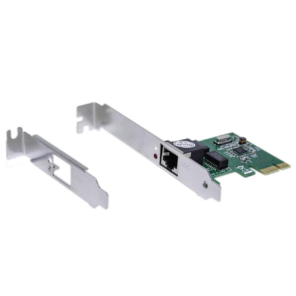 Placa De Rede PCI Express 10/100/1000Mbps Gigabit Mymax