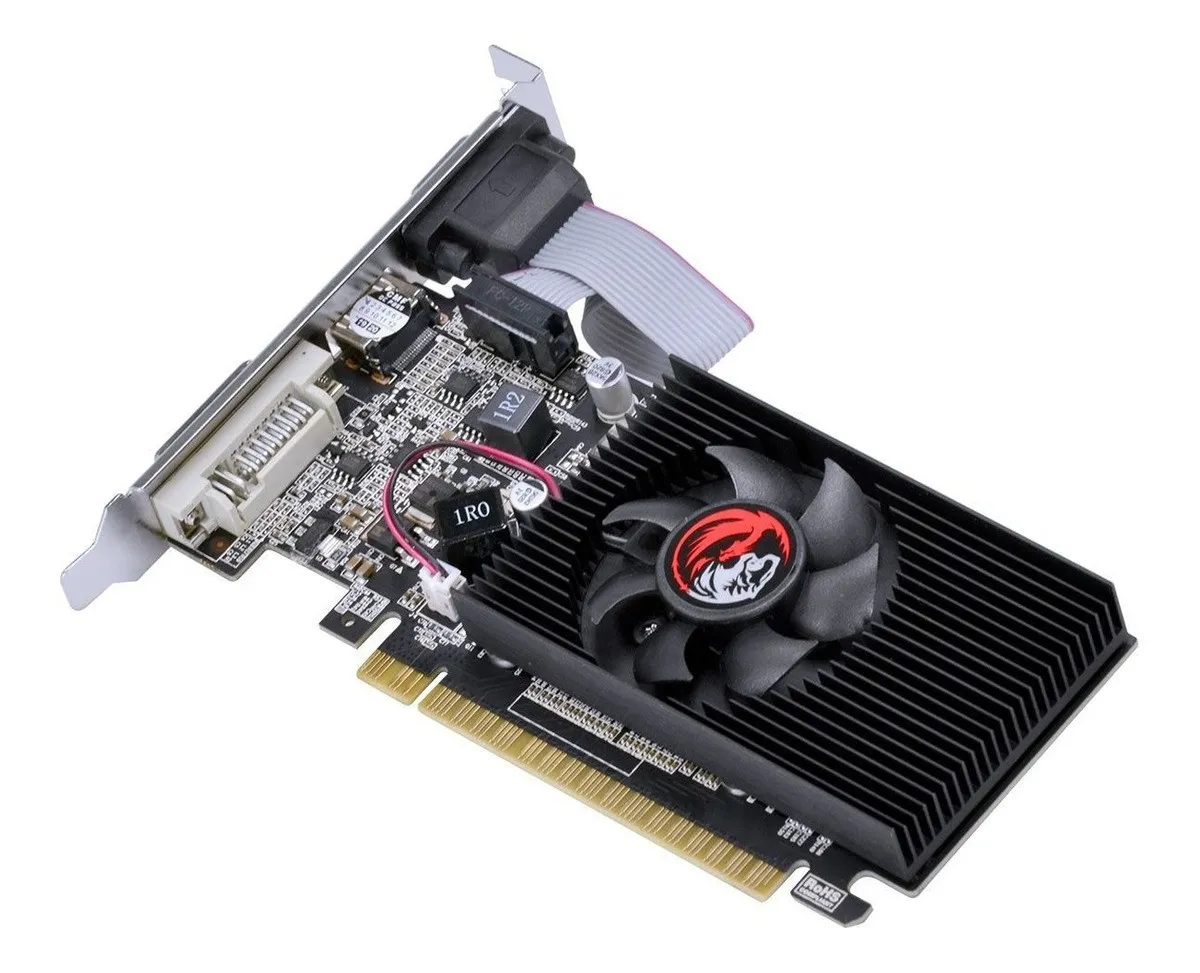 Placa de Vídeo GeForce G210 1GB GDDR5X 64 Bits Low Profile - PA210G6401D3LP