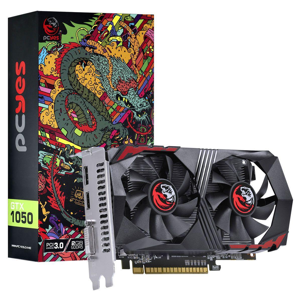 Placa de Vídeo GTX 1050 2GB Nvidia Geforce - Pcyes