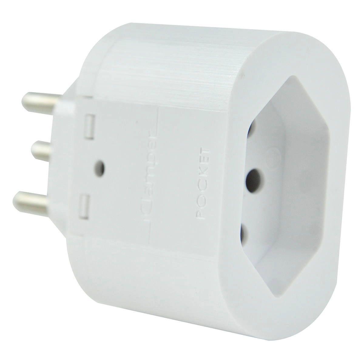 Proteção contra Surto e Raios Clamper Pocket Dps 3 Pinos 10a Branco