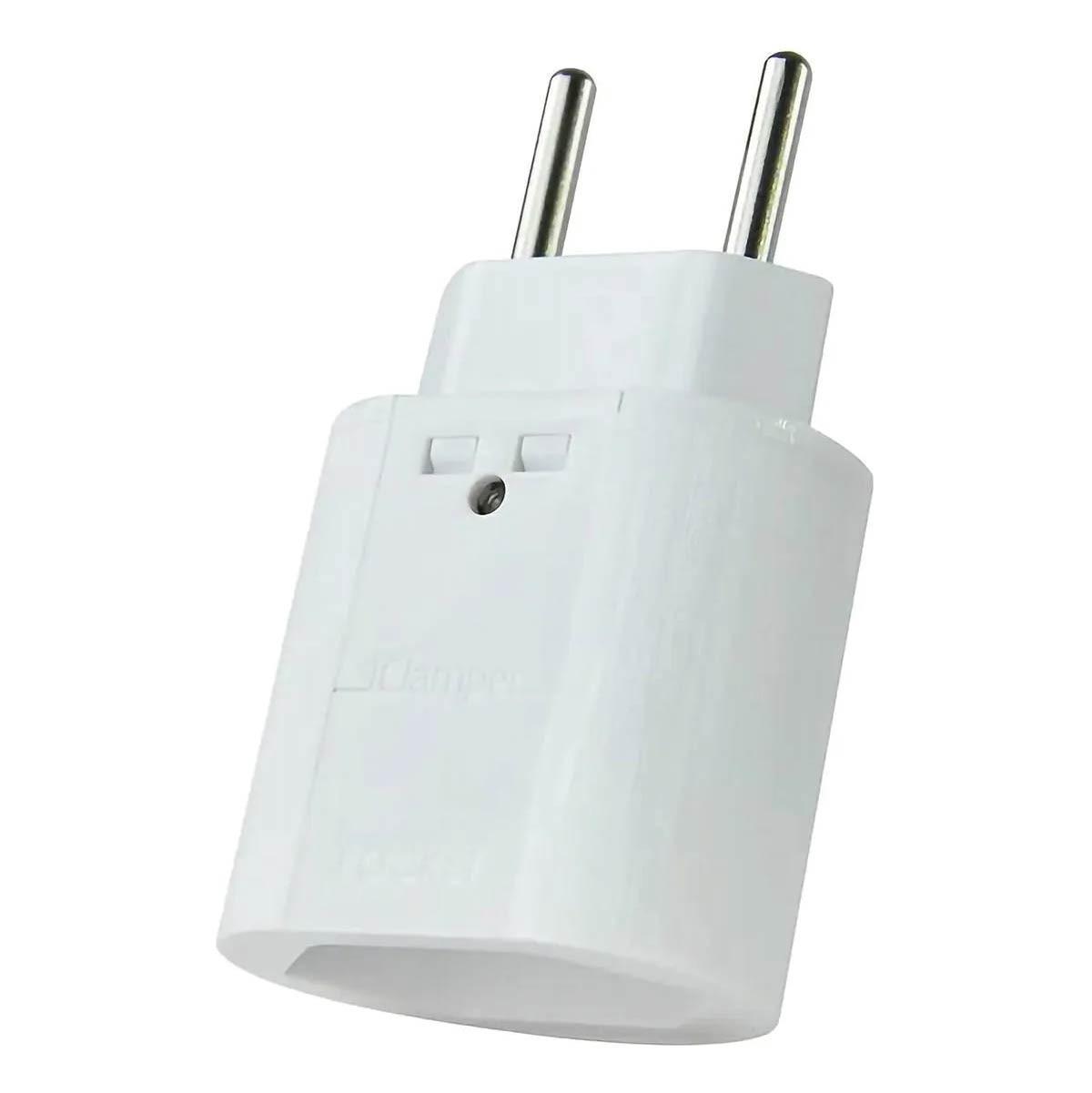 Protetor Clamper Pocket Dps 2 Pinos 10a Proteção contra Surto e Raios Branco