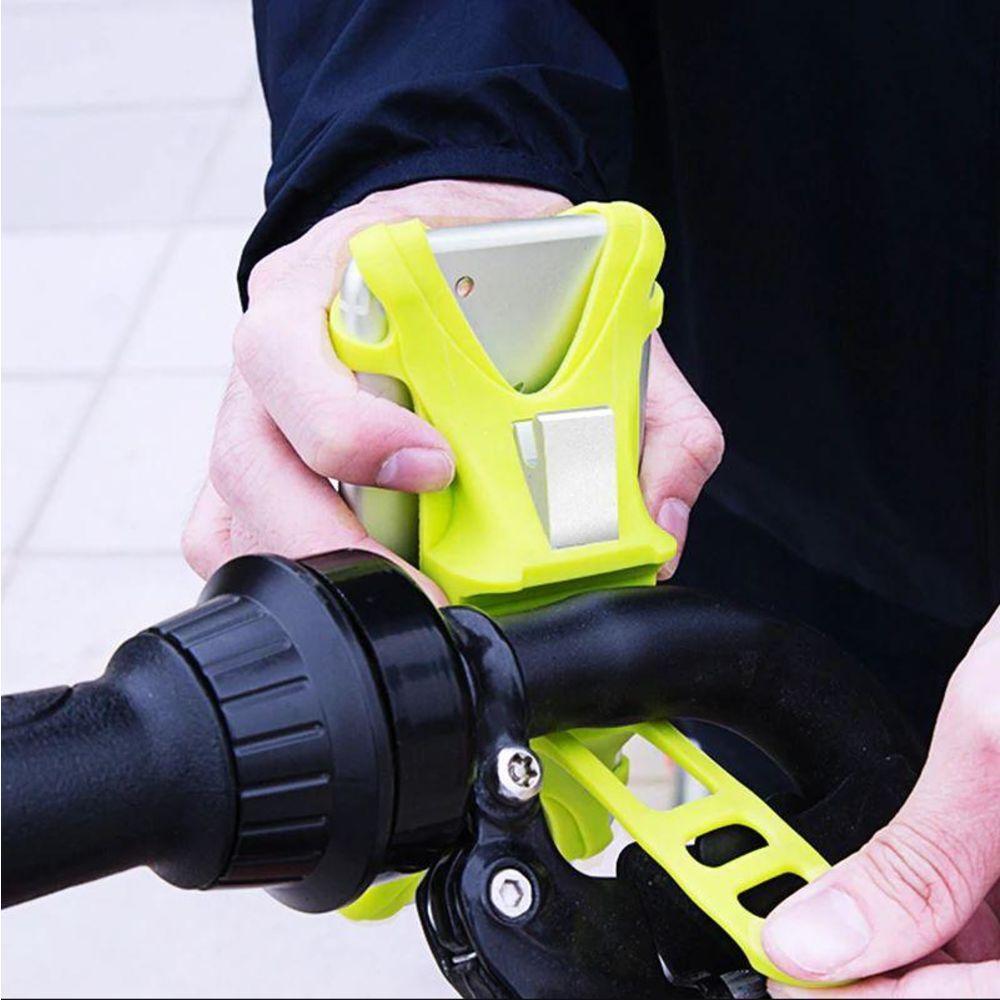 Suporte De Celular Para Bicicleta Bike Moto Original Baseus Verde