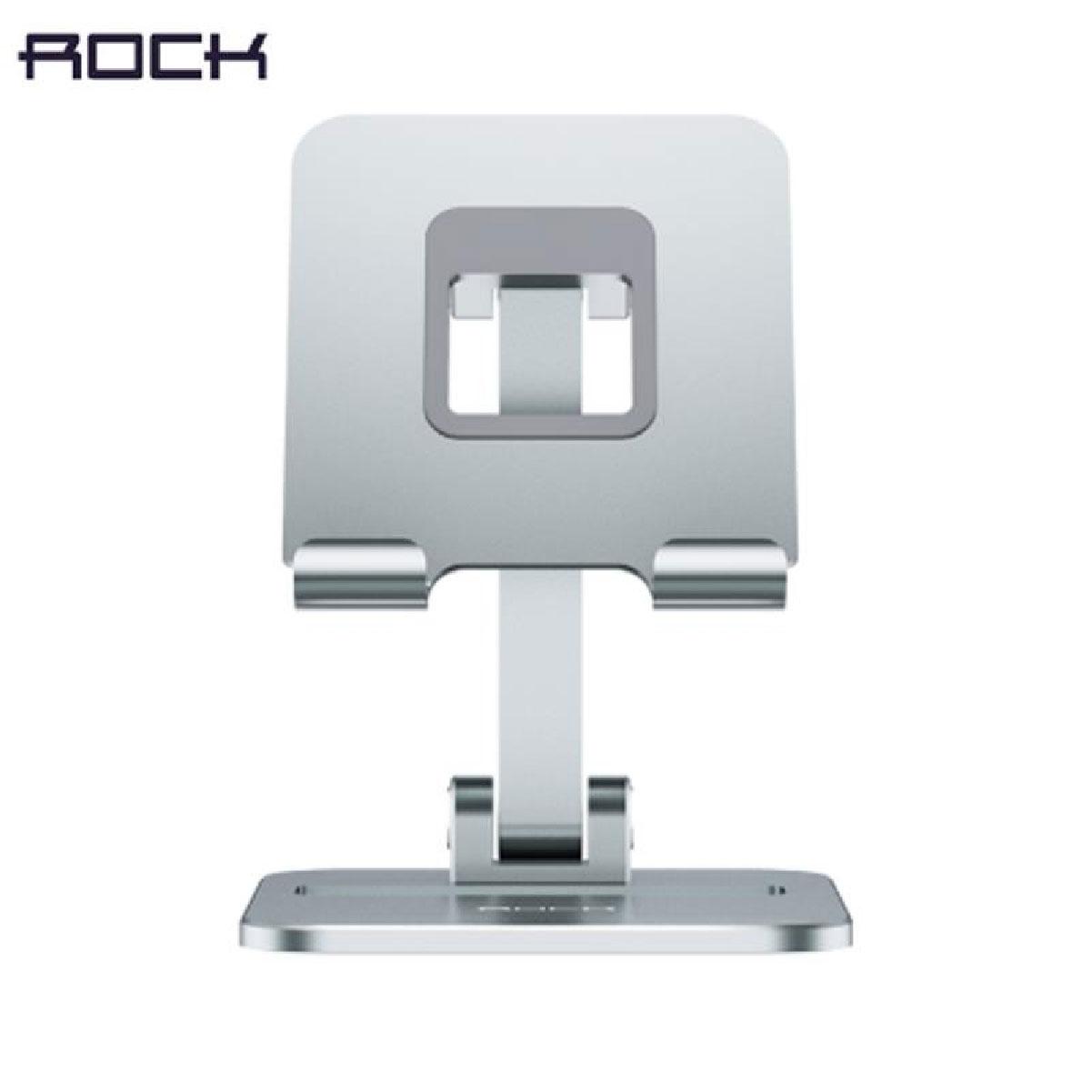 Suporte de Mesa Para Celular Ajustável Rock Cinza