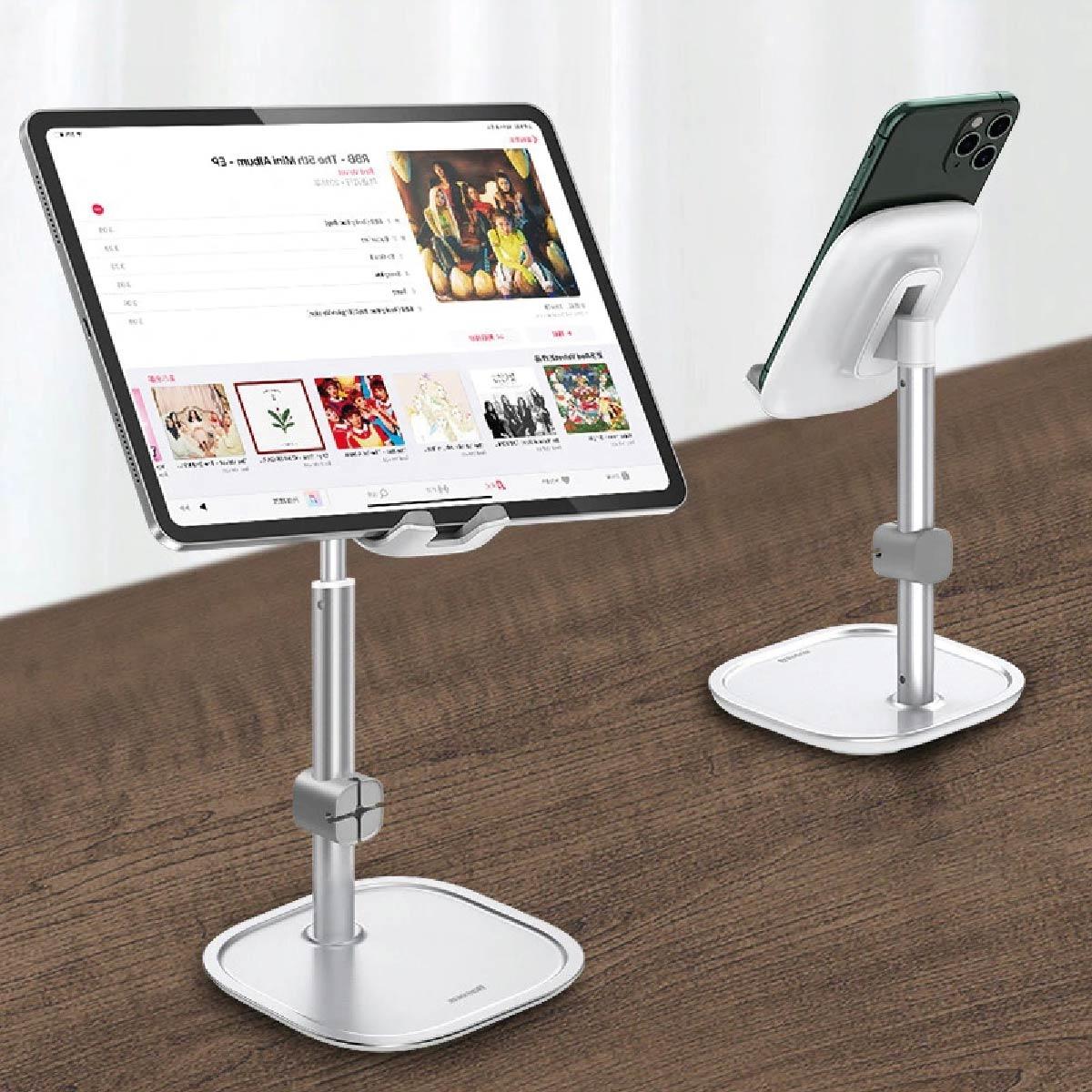 Suporte de Mesa Para Celular Tablet Literay Youth Baseus Preto
