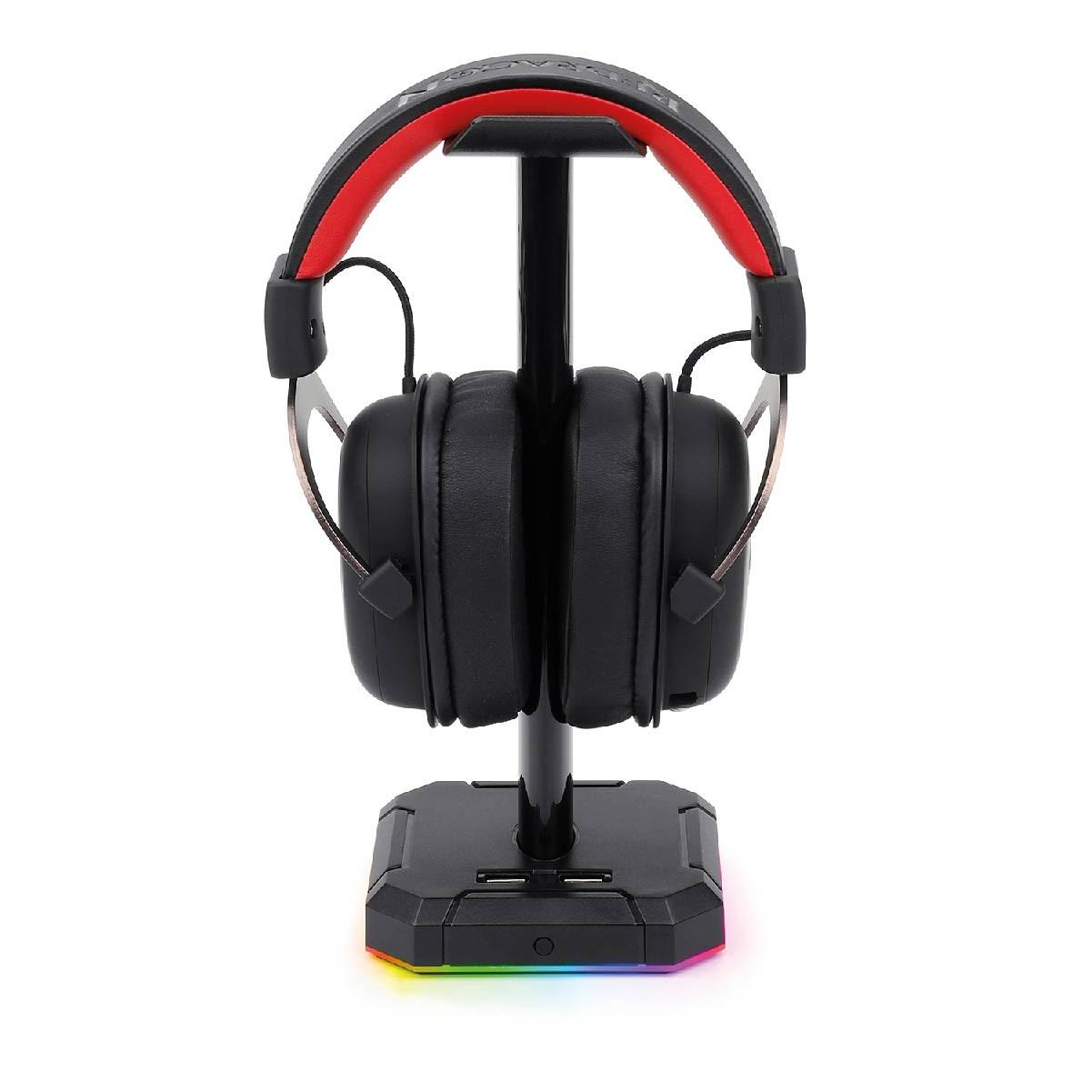 Suporte Redragon Para Fone de Ouvido Headset RGB 4 X USB