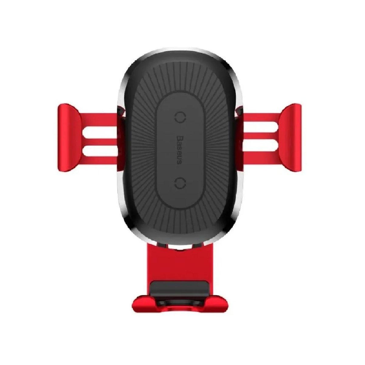 Suporte Veicular Com Carregamento Sem Fio Baseus Gravity Vermelho (Ref. WXYL-09)