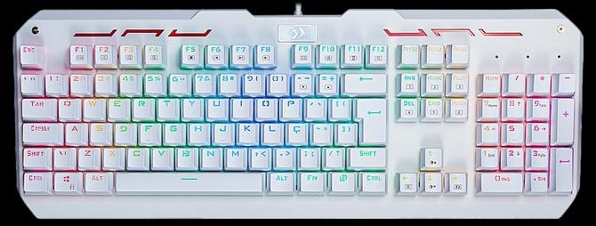 Teclado Gamer Mecanico Varuna RGB Branco Abnt 2 Switch Blue K559W