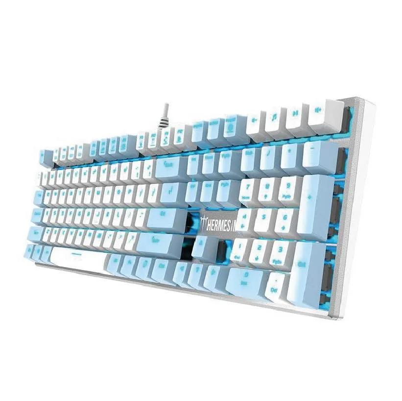 Teclado Mecânico Gamer Gamdias Hermes M5 Switch Azul - ANSI
