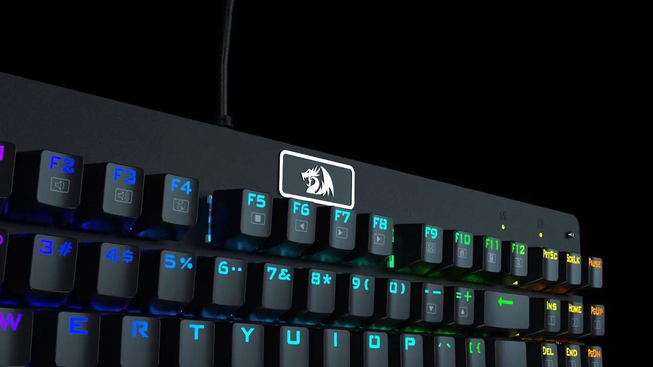 Teclado Mecanico Gamer Redragon Dark Avenger Outemu Switch Azul RGB ABNT2