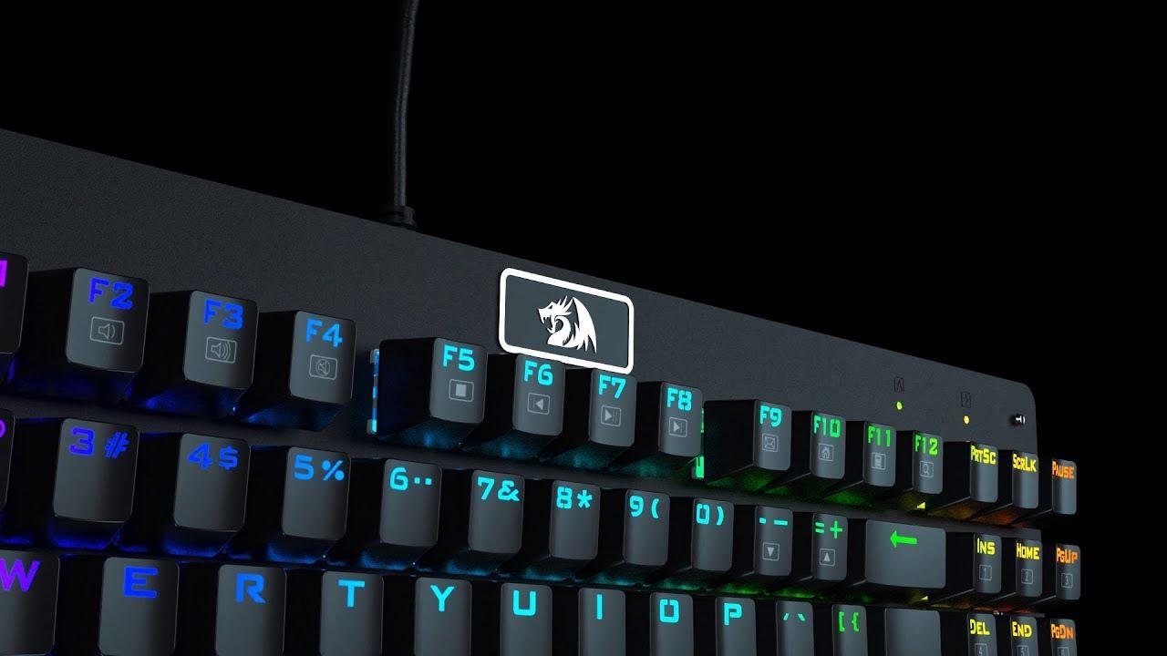 Teclado Mecânico Gamer Redragon Dark Avenger Outemu Switch Vermelho RGB ABNT2