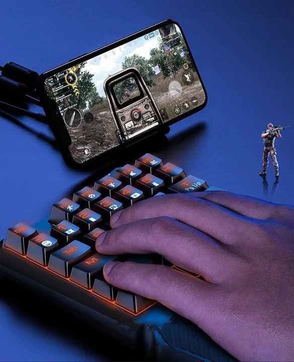 Teclado Mecânico Mini Gamer Baseus Switch Blue Gk01 Pc/celular/game