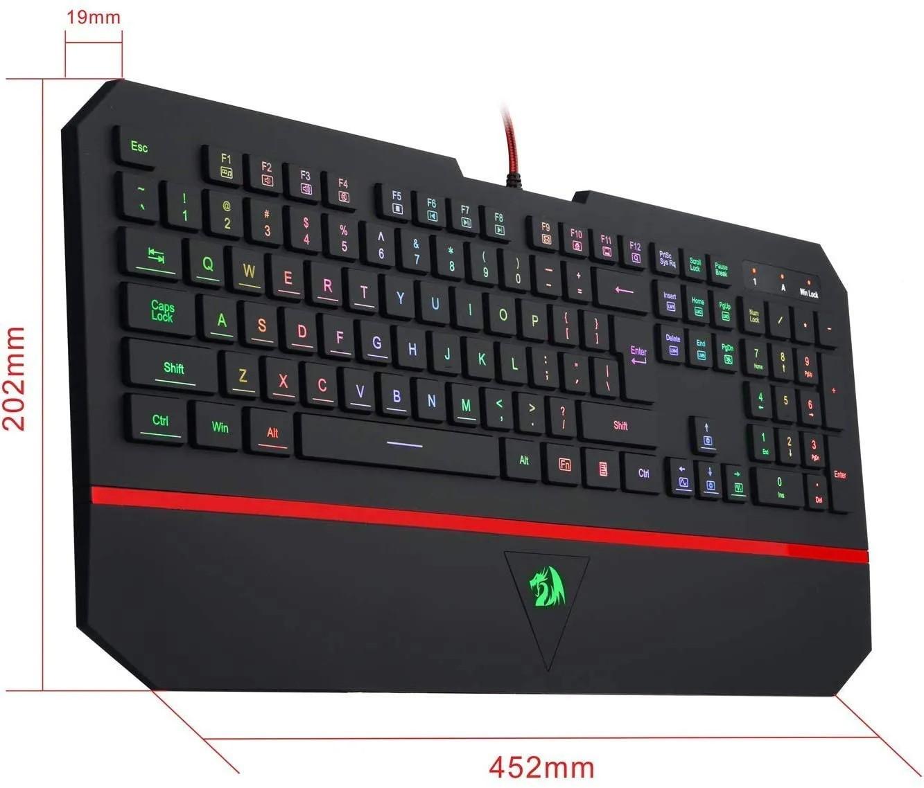 Teclado Gamer Redragon Karura 2 K502rgb Abnt2 Multimídia