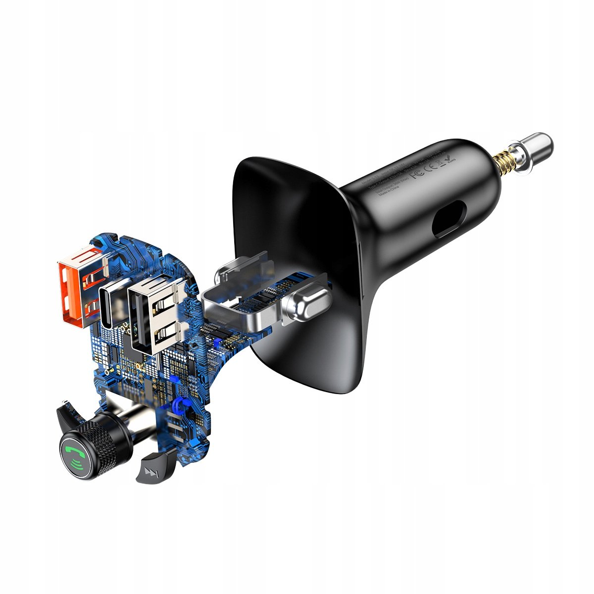 Transmissor FM Mp3 Bluetooth carregador QC4.0 Turbo S-13