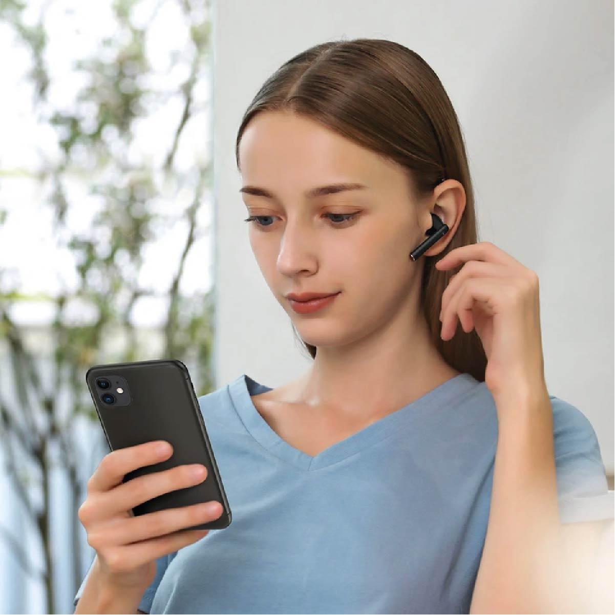 Fone de Ouvido Sem Fio Baseus Tws W05 Bluetooth Qi