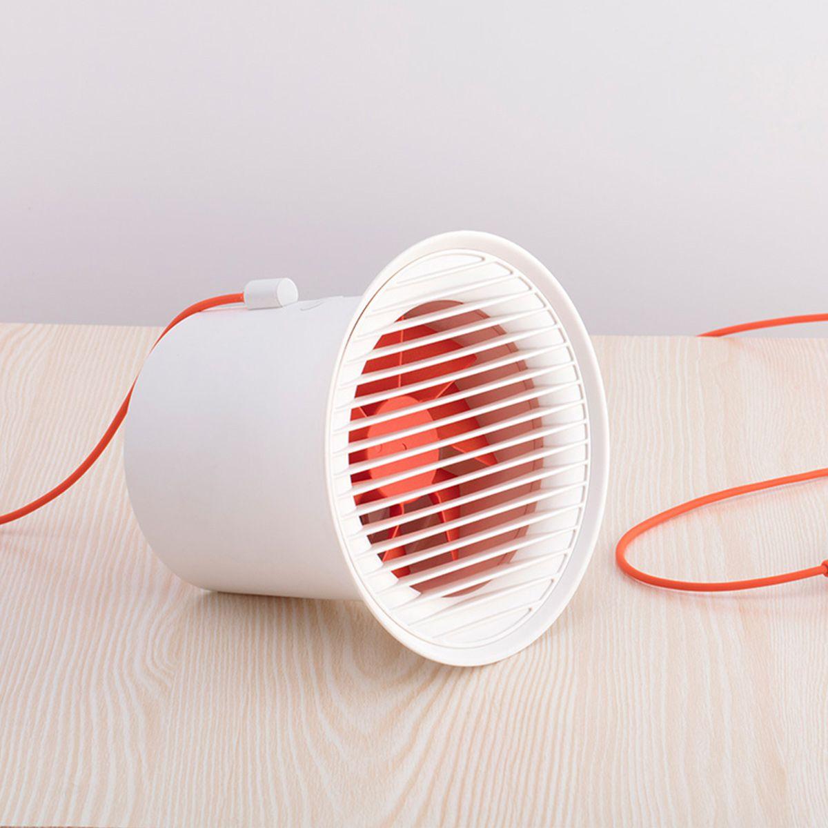 Mini Ventilador De Mesa Usb Portátil Silencioso 15cm Original Baseus Branco