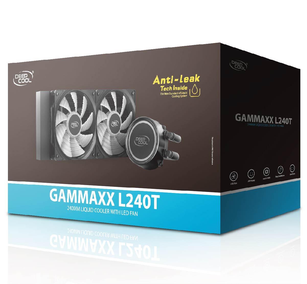 Water Cooler Anti-Leak Gammaxx L240T Vermelho